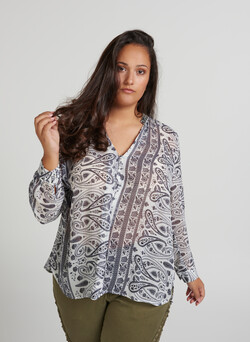 Bluse med paisley print