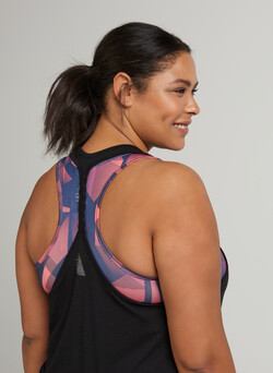 Sports top with racer back