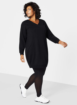 Robe sweat col-v