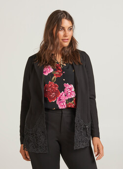 Blazer with lace