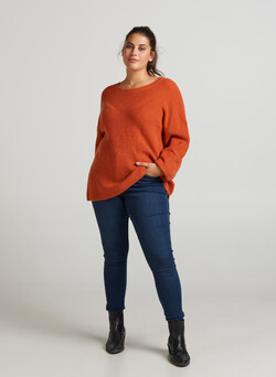 Knit wool blouse